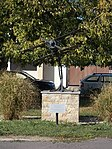 Biplane sculpture, Komárno, Slovakia.jpg