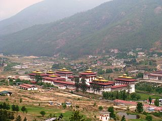 Birds-eye view, Thimphu, Bhutan 001.JPG