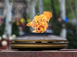 Bishkek 03-2016 img50 Eternal flame at Victory Square.jpg