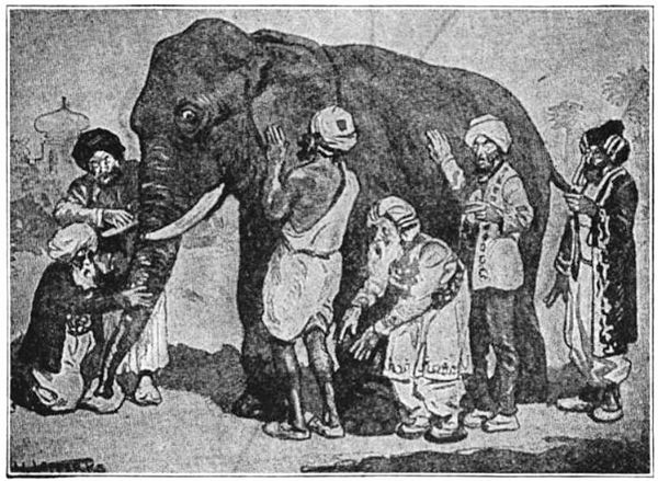 The parable of Blind men and an elephant suggests that people tend to project their partial experiences as the whole truth Blind men and elephant2.jpg