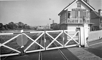 Blowick railway station - Site of Blowick railway station in 1964.