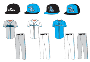 Sydney Blue Sox uniforms including caps.Current as of 2014/15 season