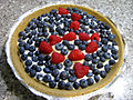 Blueberry pie with raspberry design, August 2009 cropped.jpg