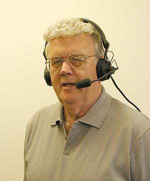 Bob Fouracre - Bob Fouracre broadcasting Holy Cross football in 2005