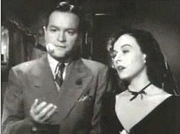 Bob Hope and Paulette Goddard in The Ghost Breakers trailer.JPG