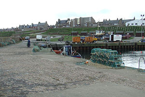 Boddam, Aberdeenshire - Boddam Harbour with lobster pots