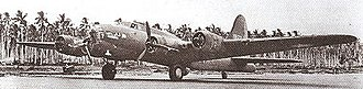 Henderson Field (Guadalcanal) - Boeing B-17E of 11th Bomb Group, 42d Bomb Squadron (Eager Beavers) at Henderson Field in 1943