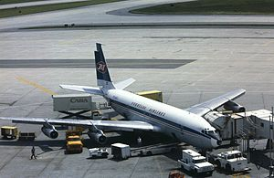 Jat Airways - JAT Boeing 707 at Toronto Airport in 1984