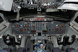 Aviation Museum of Iceland - Cockpit of Boeing 727 Gullfaxi
