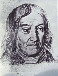 Bolyai Farkas arcképe(Szabó János rajza)