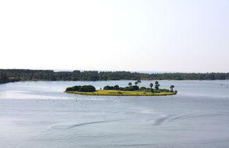 Bone Island - Image: Bone Island, Batticaloa in Bird's eye view