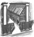 Book-desks and reader's seats in the Biblioteca Laurentiana, Florence — On the Vatican Library of Sixtus IV.png