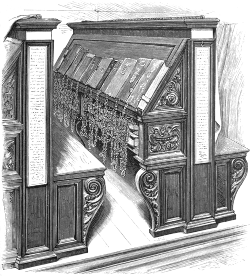 Fig. 5. Book-desks and reader's seats in the Biblioteca Laurentiana, Florence.