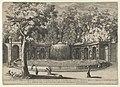 Book IV, plate 7- the fountain of the Tiburtine sibyl in the garden at Villa d'Este, Tivoli, from the series 'The fountains of the Este garden in Tivoli' (Le fontane del Giardino Estense in Tivoli) MET DP841297.jpg