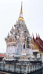 Pagoda in Srivijaya style in Chaiya, Thailand