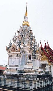 Architecture in the Srivijayan style. Surat Thani Thailand