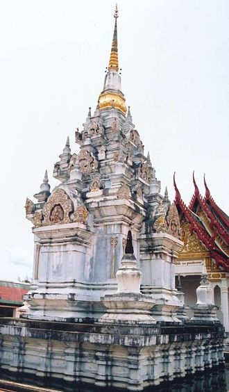 Southern Thailand - Pagoda in Srivijaya-style, Chaiya, Surat Thani