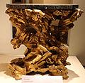 Bottega genovese, console, 1690 ca., base in legno e piano di marmo.JPG