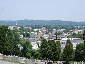 Boyertown, Pennsylvania - Boyertown viewed from atop Cannon Hill