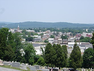 Boyertown, Pennsylvania - Boyertown viewed from atop Cannon Hill