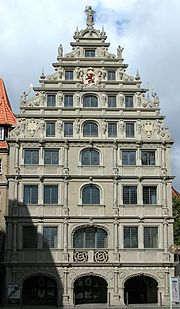 Braunschweig Brunswick Gewandhaus Ostfassade