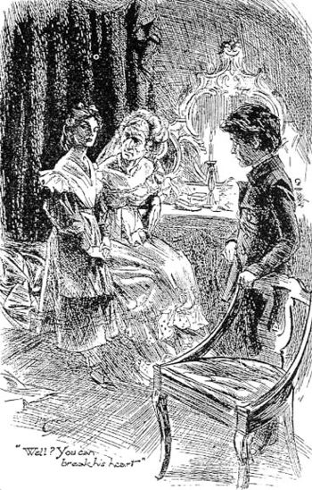 English: Miss Havisham, Pip, and Estella, in a...