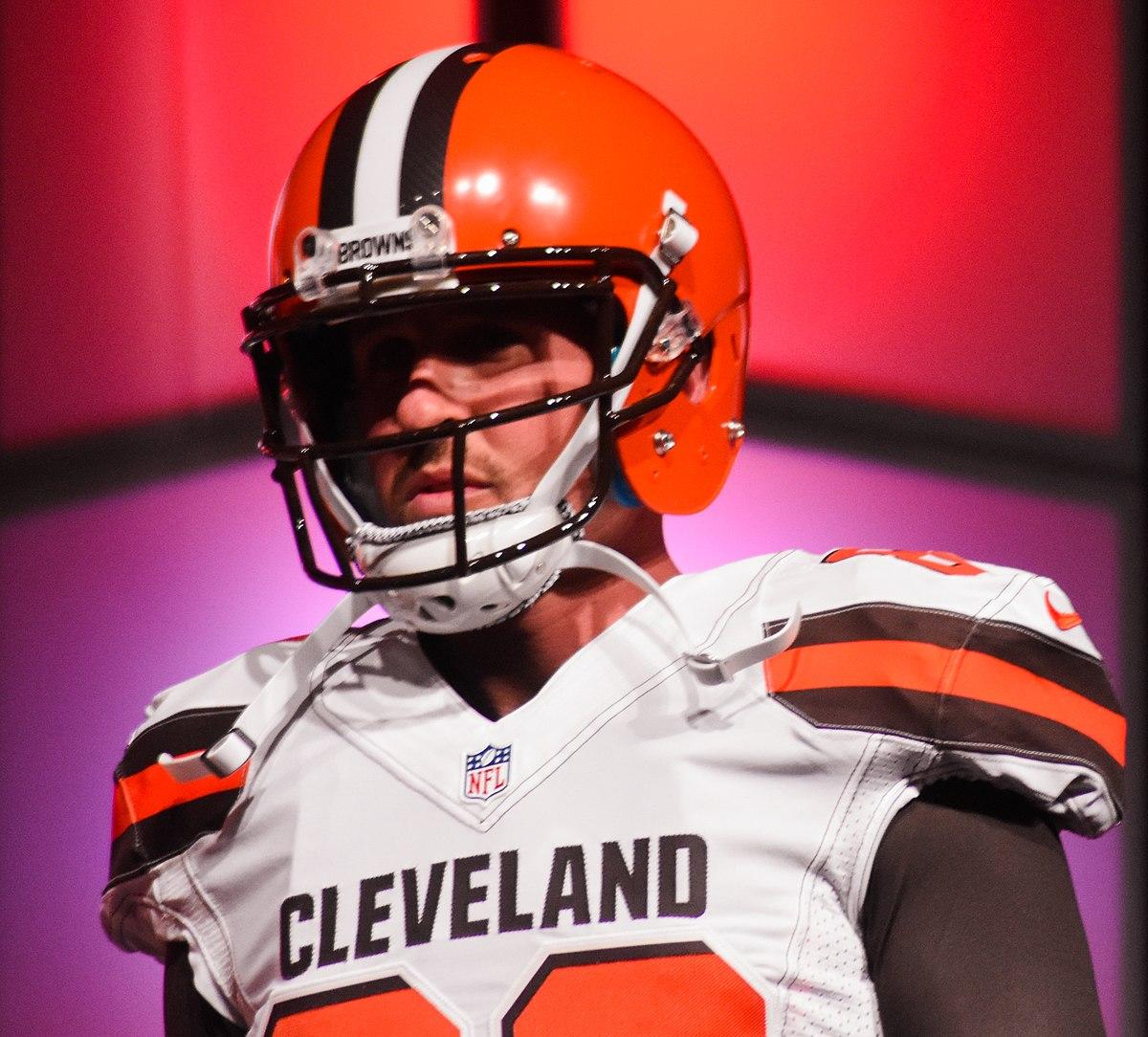 File:Brian Hartline Cleveland Browns New Uniform Unveiling ...