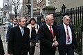 Brian Stanley TD, Caoimhghín Ó Caoláin TD & Aengus Ó Snodaigh TD entering the Dáil100 event (46785423192).jpg