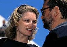 Bridget Fonda (obok Luc Besson), Cannes, 2001