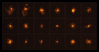 Quasar - Bright halos around 18 distant quasars.