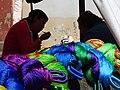 Brightly Colored Hammocks with Indigenous Women on a Break - San Cristobal de las Casas - Chiapas - Mexico (15034355973).jpg