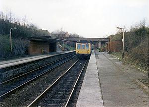 Brinnington railway station - Brinnington railway station in 1989