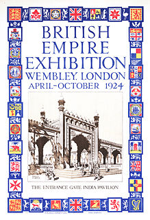 British Empire Exhibition colonial exhibition held in 1924 and 1925