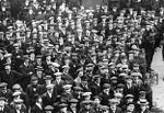 Volontaires britanniques en août 1914.