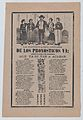 Broadsheet with monthly horoscopes; a group of women surrounding one man and a crowd of people raising their arms MET DP868517.jpg
