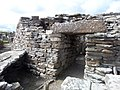 Broch of Gurness, tower entrance, exterior, with lintel.jpg