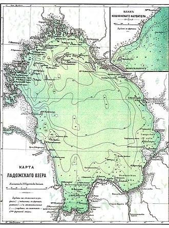 Lake Ladoga - Image: Brockhaus and Efron Encyclopedic Dictionary b 33 242 0