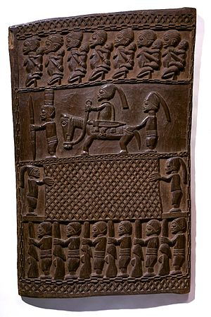 Yoruba art - Wooden Door (Ilekun) with carved motifs