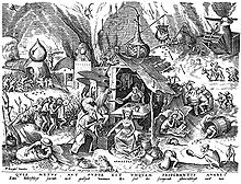 Pieter Bruegel's depiction of Greed