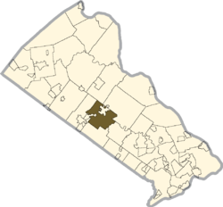 Location of Doylestown Township in Bucks County