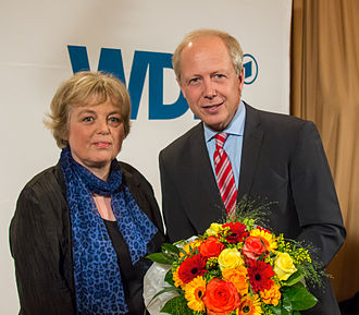 Tom Buhrow - Ruth Hieronymi, congratulates Tom Buhrow after he is elected intendant of the WDR