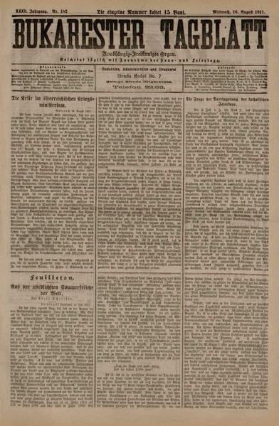 File:Bukarester Tagblatt 1911-08-16, nr. 182.pdf