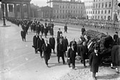 Funeral procession for Gustav Stresemann