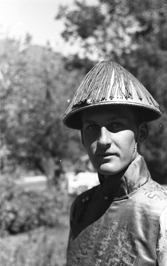 Secret Intelligence Service - A young Englishman, member of the Secret Intelligence Service, in Yatung, Tibet, photographed by Ernst Schäfer in 1939