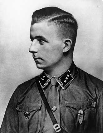 "Horst-Wessel-Lied - Horst Wessel, credited as writing the lyrics of the ""Horst Wessel Song"""