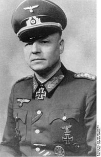 Otto Fretter-Pico German General and Knights Cross recipient
