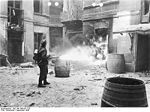 Varsovie insurg�e an�antie par les Allemands, �t� 1944.