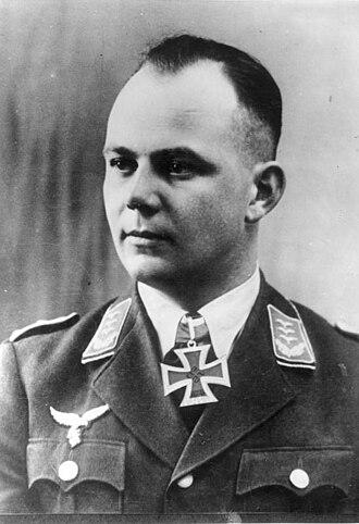 Walter Koch (Fallschirmjäger) - Walter Koch Note that the Knight's Cross at his neck is a photomontage