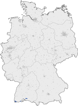 Bundesautobahn 98 - Image: Bundesautobahn 98 map