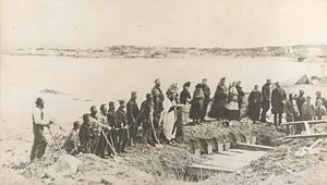 RMS Atlantic - Burial service for victims of Atlantic shipwreck, April 1873, Lower Prospect, Halifax County, N.S.